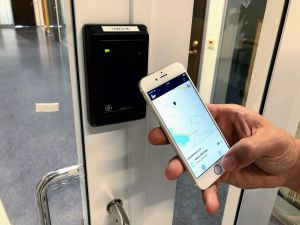 opening access control door with a smartphone